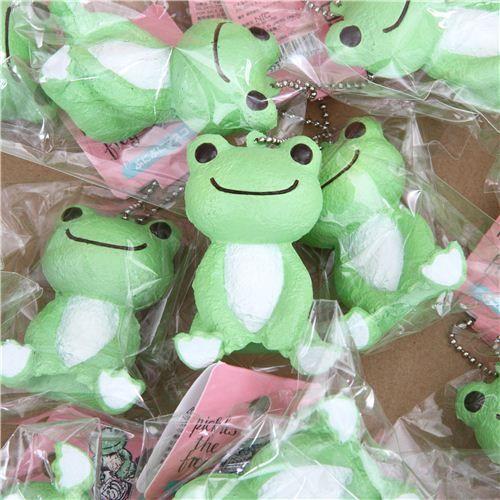 cute green Pickles the frog squishy charm kawaii | Cute ...