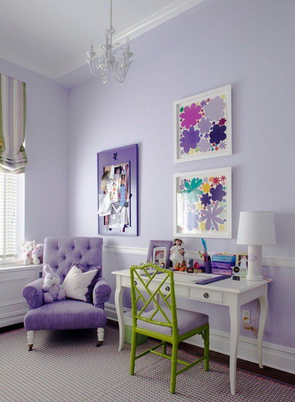 Purple green bedrooms on pinterest kids rooms girls - Purple and green living room decor ...