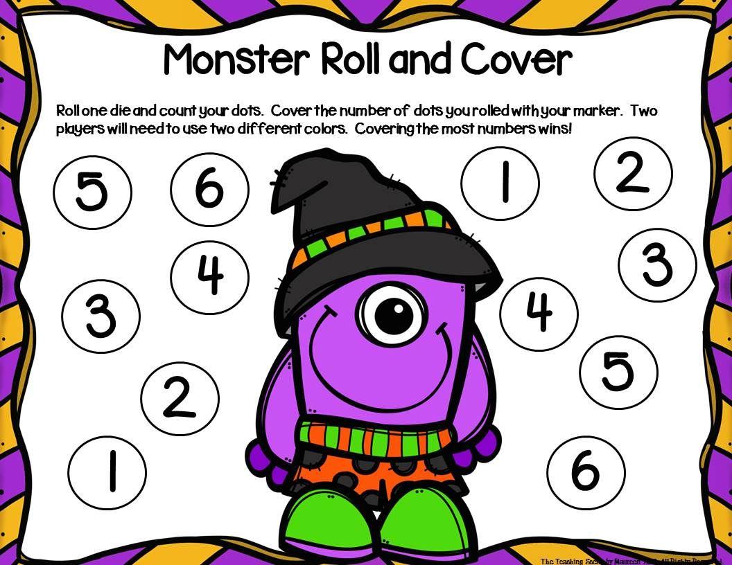 Monsters Unit Activities Amp Centers