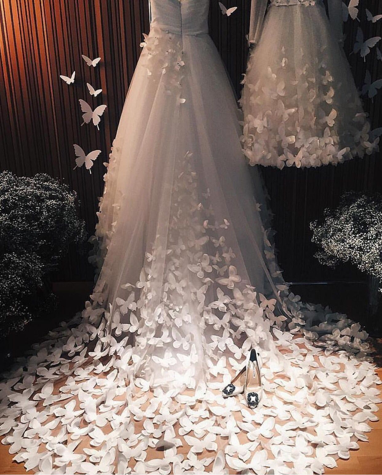 77c48800ee5 What a stunning gown with 3D butterfly embellishments by speranzacouture.