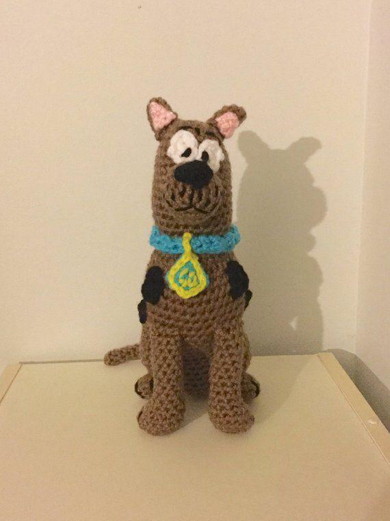 Amigurumi Great Dane Plush Crochet Brown Dog Doll Stuffed Animal
