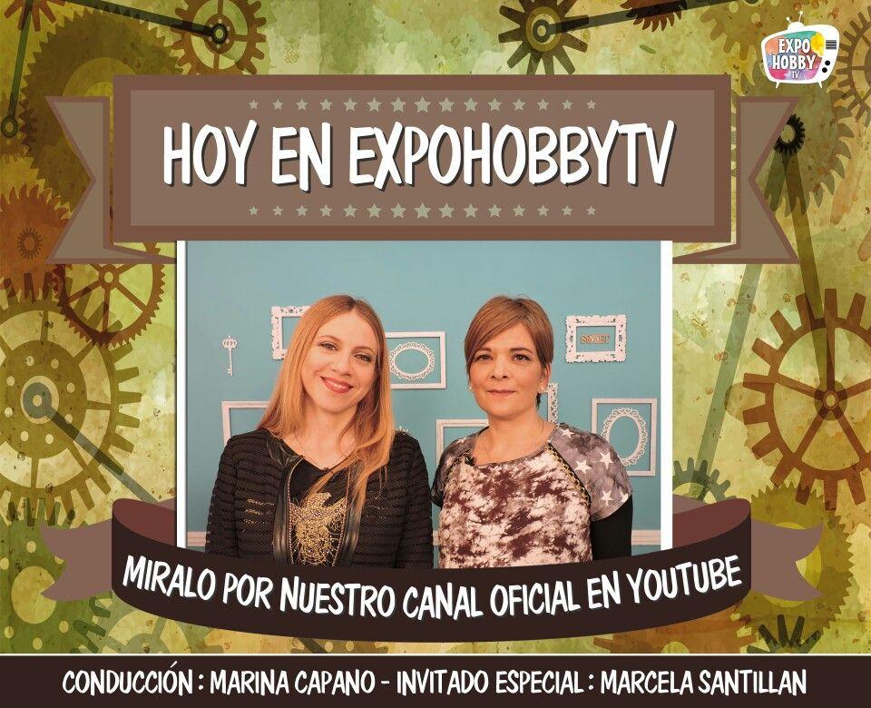 HOY en EXPOHOBBY TV: Marcela Santillán nos enseña a decorar con Mix Media. #Expohobbytv #Hoy #Arte #Manualidades #MixMedia #Decoración #Agenda Corte Laser Hyn
