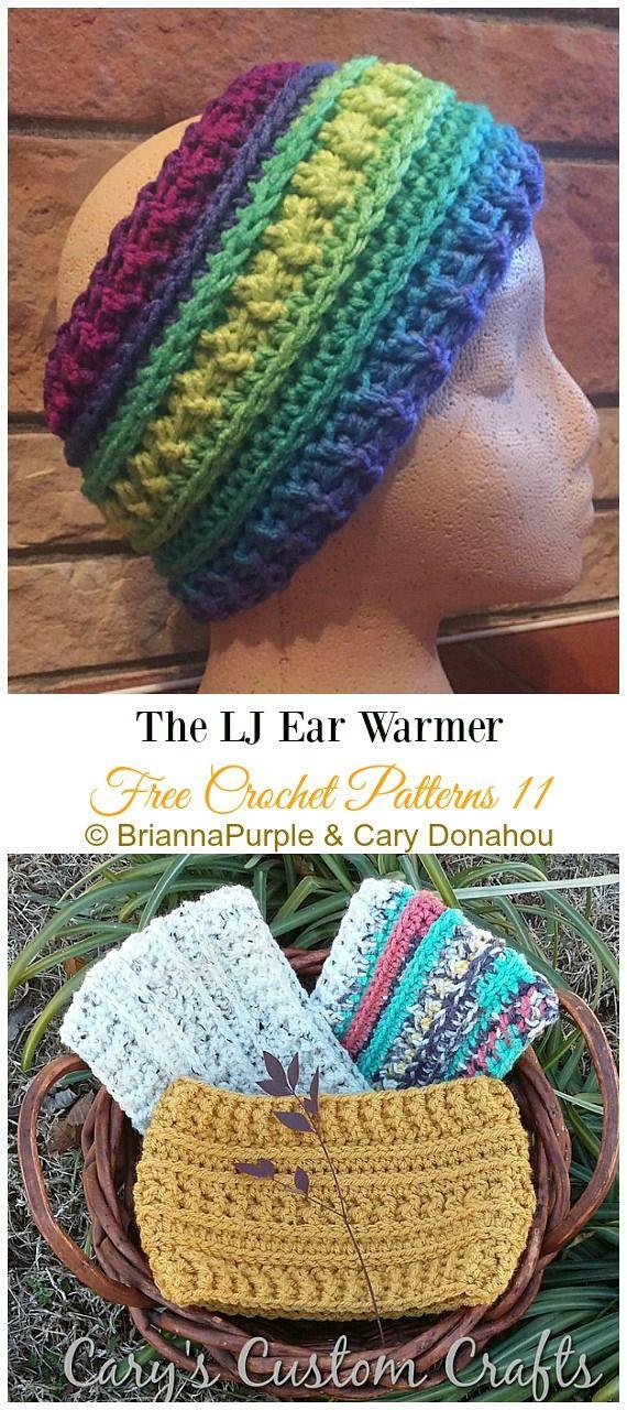 Trending Women Ear Warmer Free Crochet Patterns #crochetedheadbands