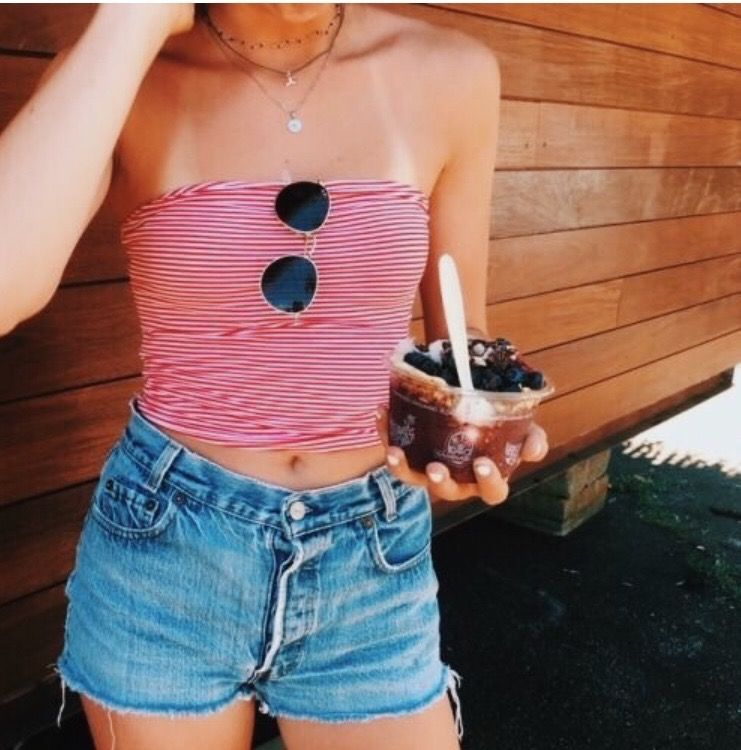 vsco  happinessinpixels  tube top outfits summer