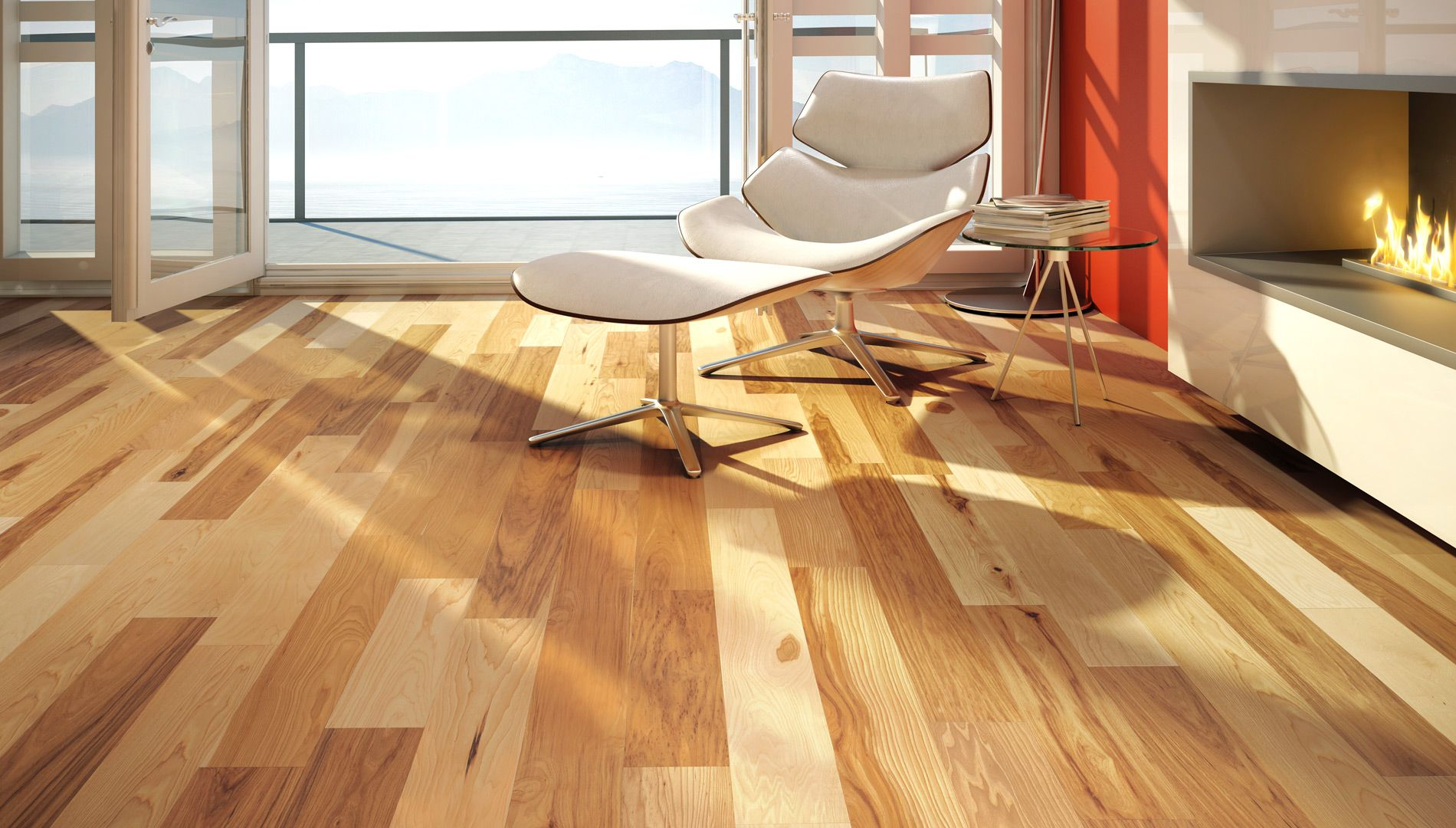 Natural, Ambiance, Hickory, Country   Lauzon Hardwood Flooring