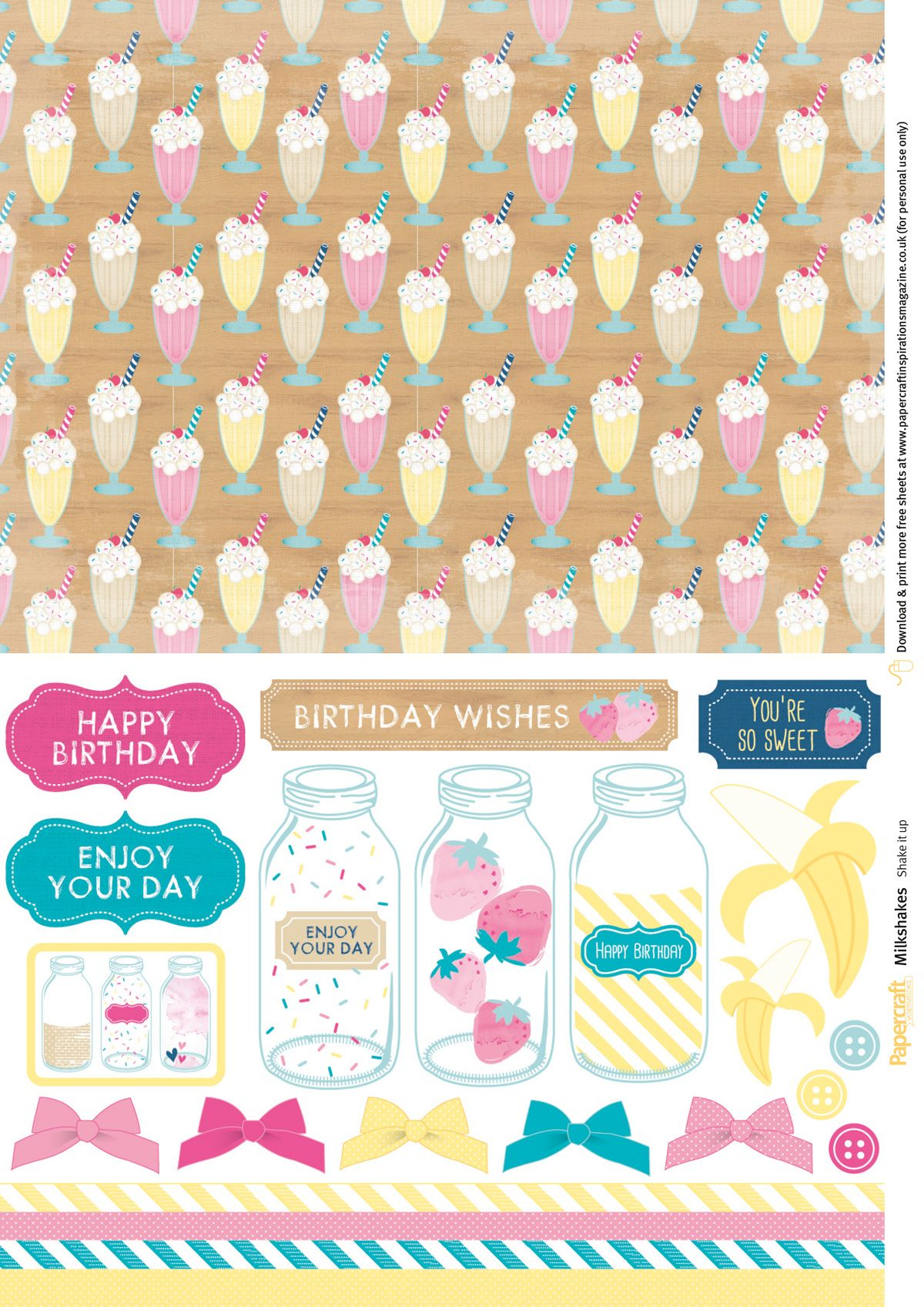Free papers from Papercraft Inspirations magazine 164
