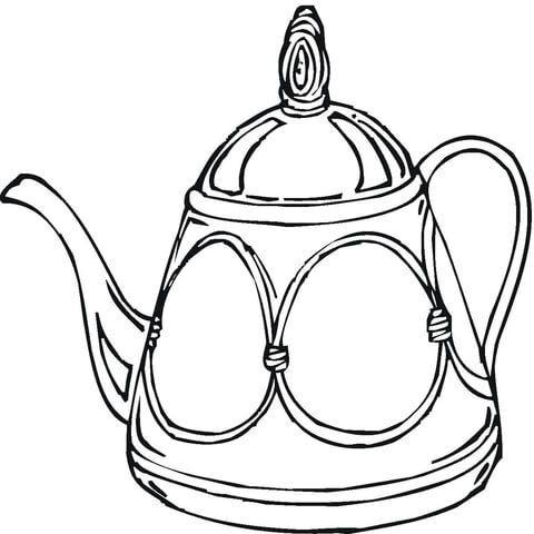 Teapot Coloring Page Teteras Dibujo Teteras Paginas Para Colorear