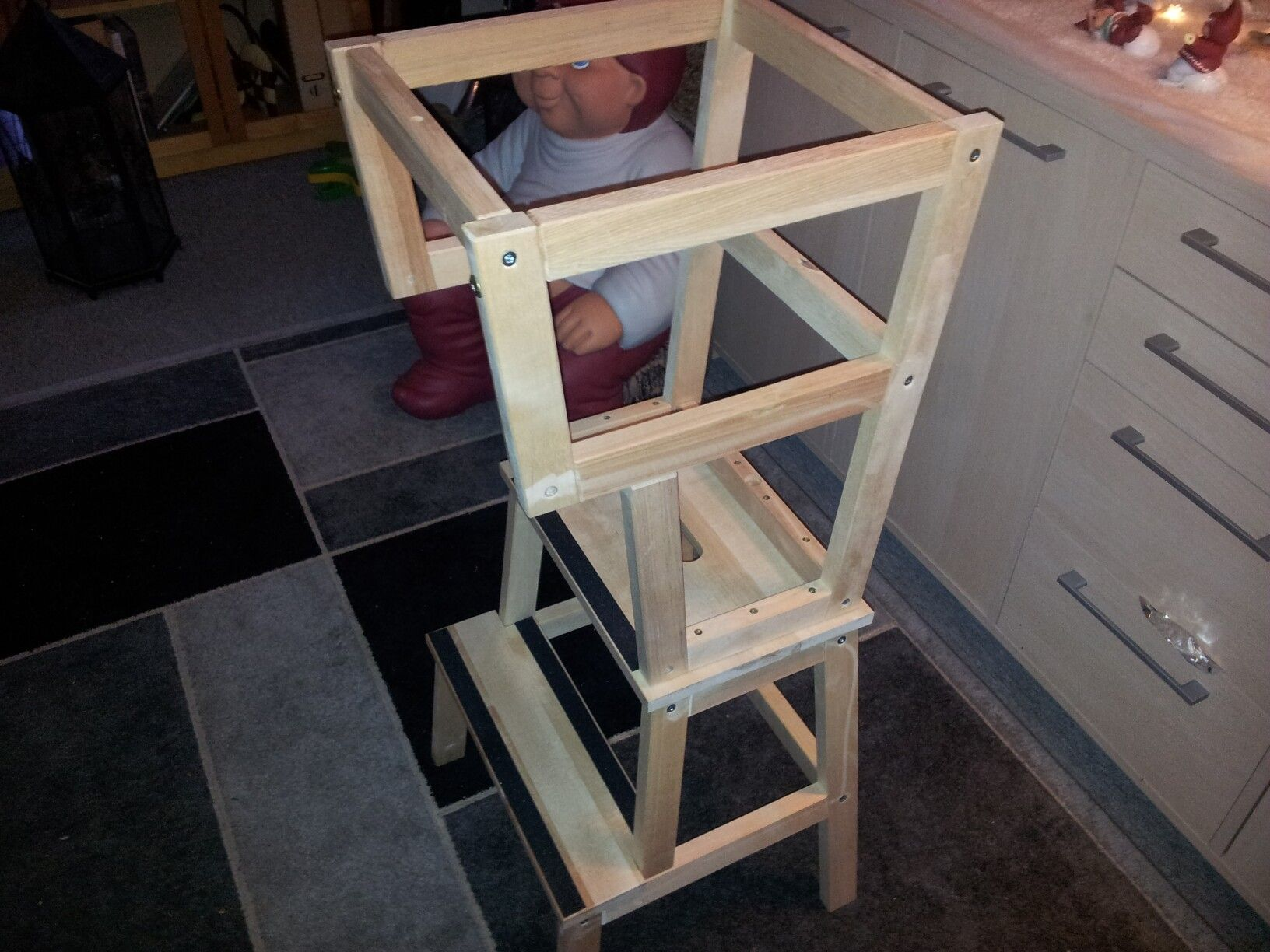 Sgabello Ikea Learning Tower : Learning tower build from ikea bekväm step stools my own