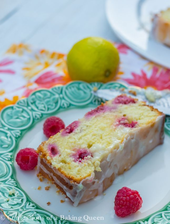 Lemon Raspberry Cake Bars