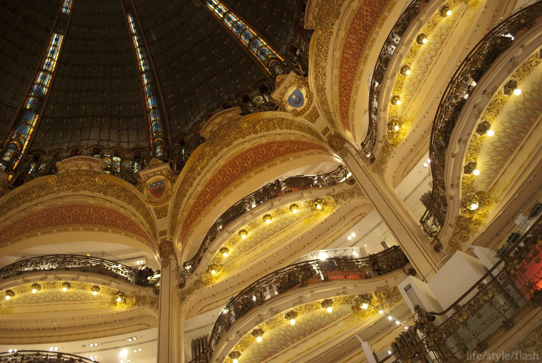 Galeries Lafayette department store. next time I WILL buy something here!