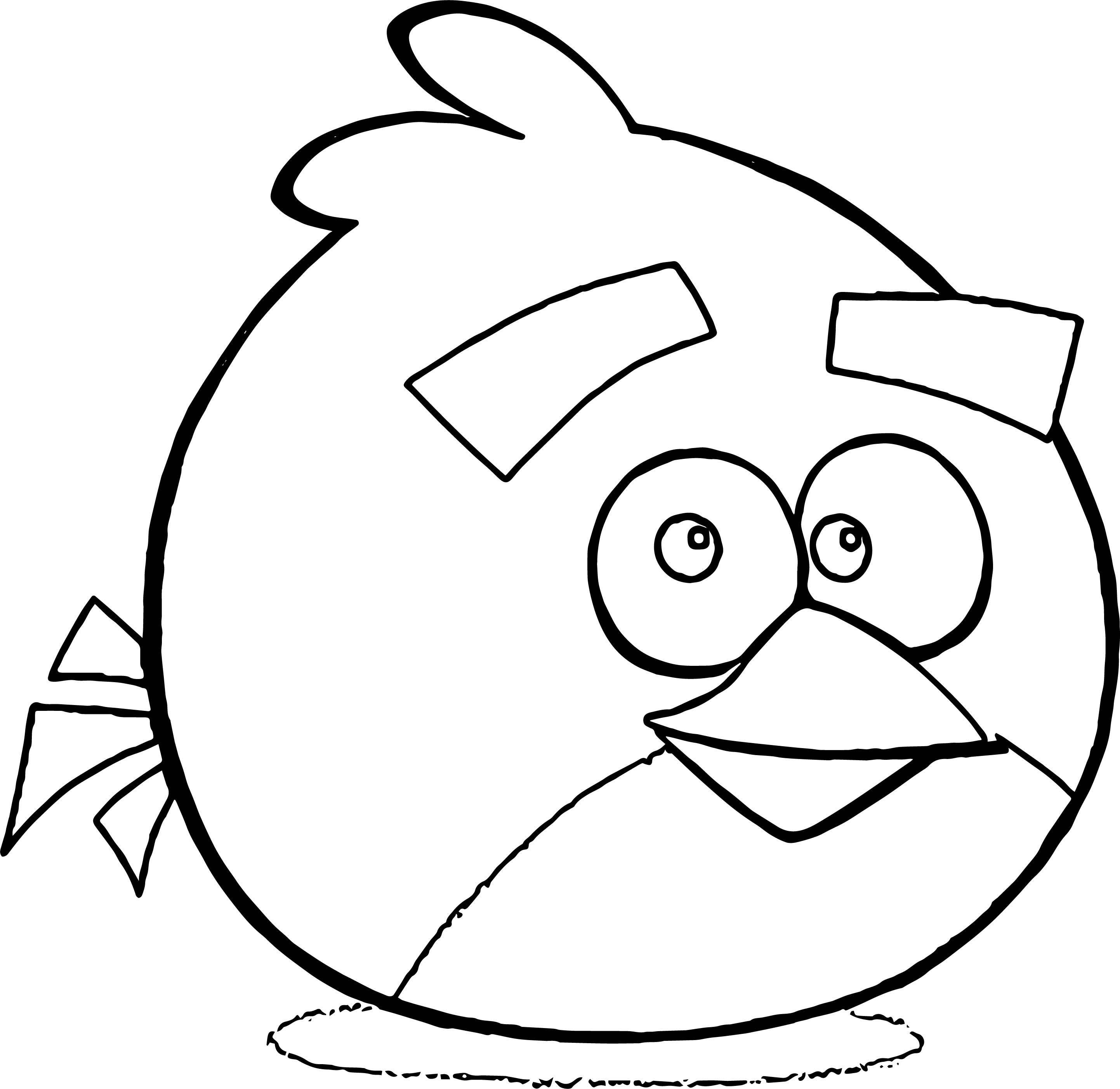 nice Red Angry Bird Smile Coloring Page (With images ...