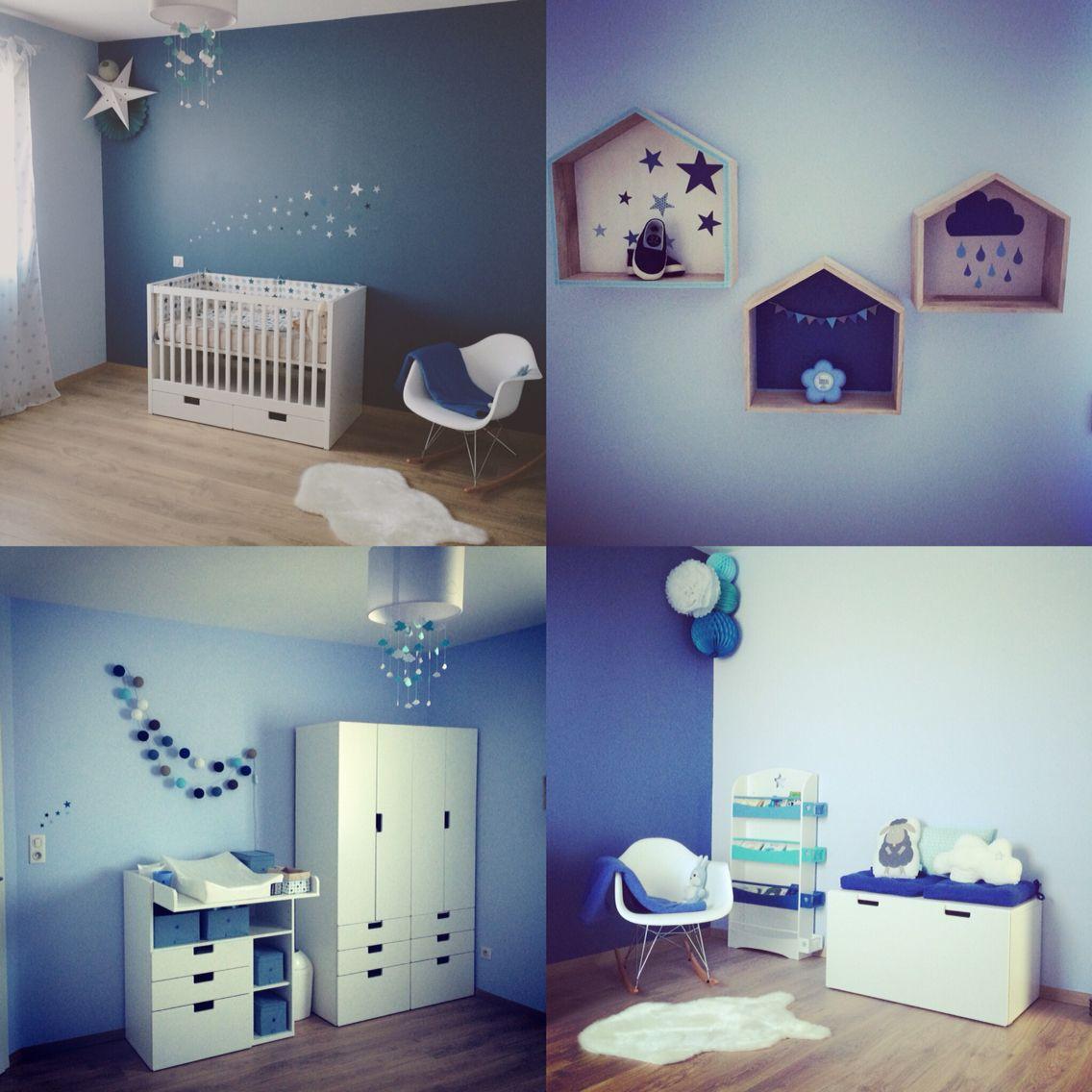 Chambre bébé thème étoiles et nuages  Chambre enfant, Chambre