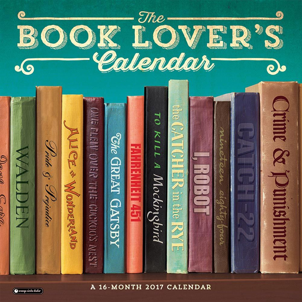 Book Lovers 2017 Wall Calendar Book Lovers Gifts Books Book Lovers
