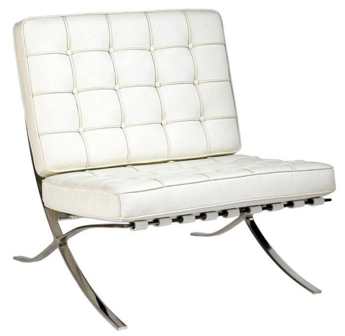 Barcelona Chair White luxe white leather barcelona chair more beautiful hollywood