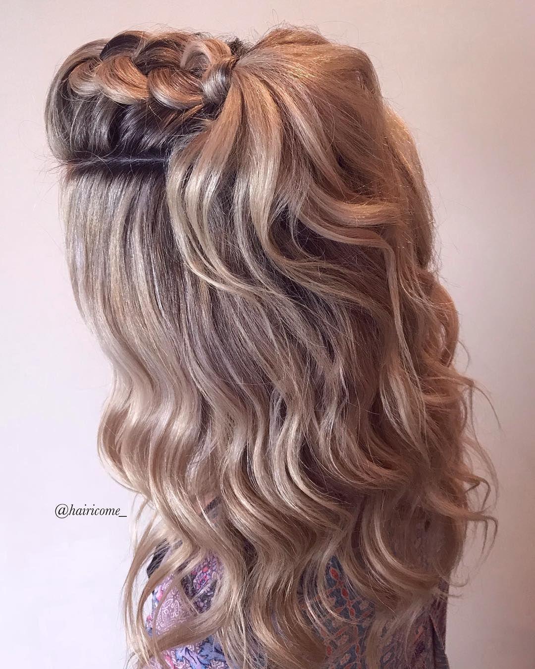 Pull through braid , braid hairstyle ,bridal updo ,updo hairstyles #hair #hairstyle #braids #weddinghair #updo