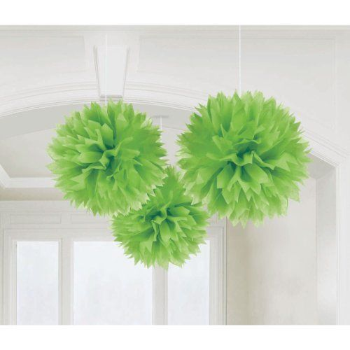 Kiwi Lime Green Large Fluffy Pom Pom Hanging Decorations (3ct) CoolGlow http://www.amazon.com/dp/B004QGT7PI/ref=cm_sw_r_pi_dp_Ljkhub1YXN6H2