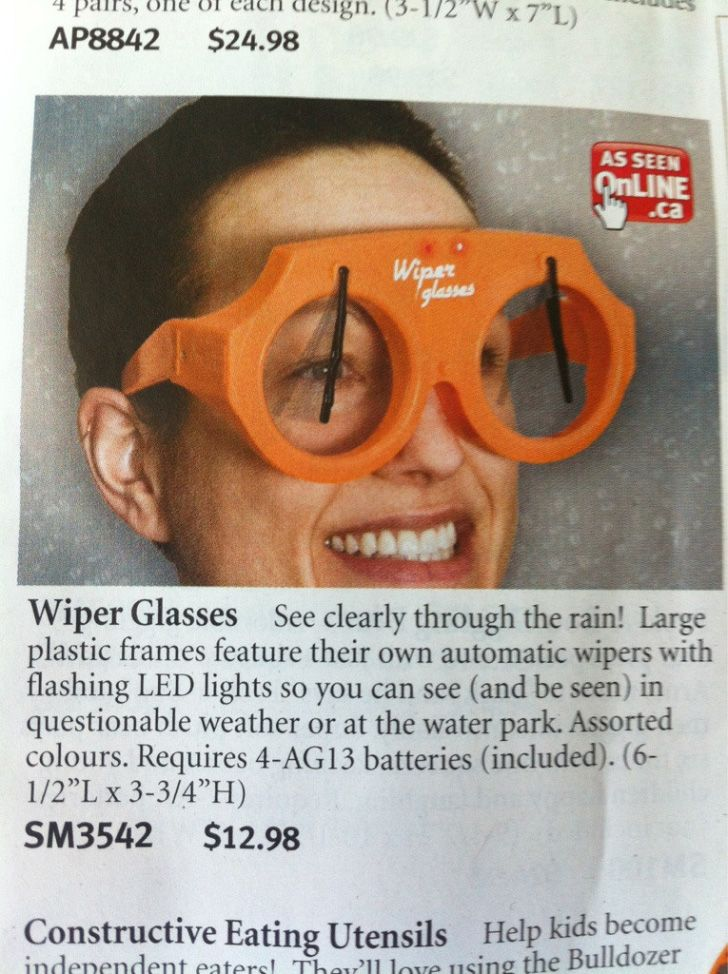 Canadian wiper glasses (as seen online!)