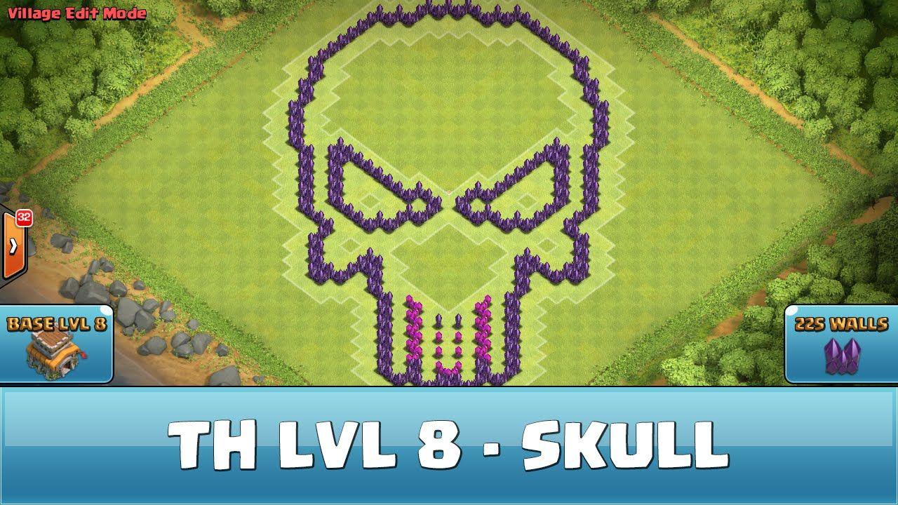 awesome Clash of Clans Fun Wall Art - TH 8 - Hybrid - Skull Fun Wall ...
