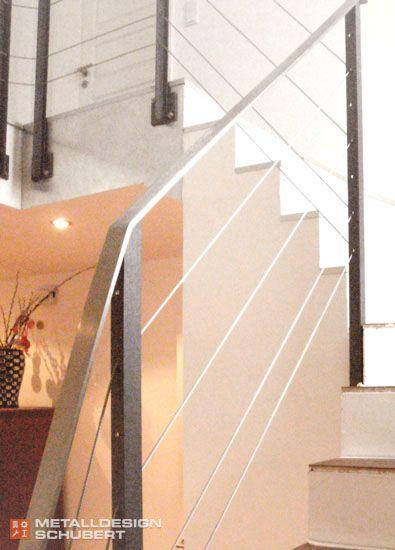 Treppengel nder edelstahl mit seilen potsdam treppenhaus for Hauseinrichtungen ideen