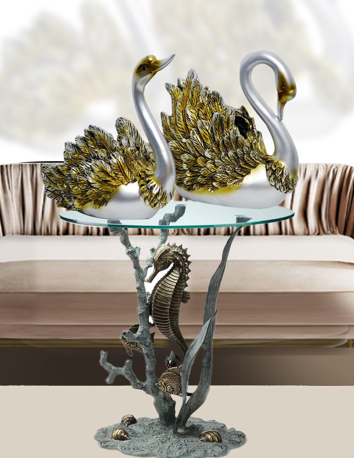 Resin Phoenix Figurine Pure Golden Bird Of Wonder Statue Animal Sculpture Decor