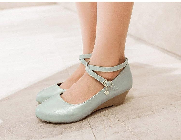 7b545cb29f28 Korean Ballet Cross Low Heels Shoes SD00489 - SYNDROME - Cute Kawaii  Harajuku Street Fashion Store
