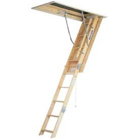 Werner 8 Ceiling Wood Attic Ladder 25 W X 54 L W2508 253 95 Attic Ladder Attic Lighting Attic Design