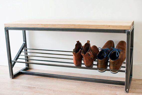 Shoe Storage Bench Schoenenbank By Whatwoodyoudonl On Etsy Armazenamento De Sapatos Sapateiras Banco Para Sapatos