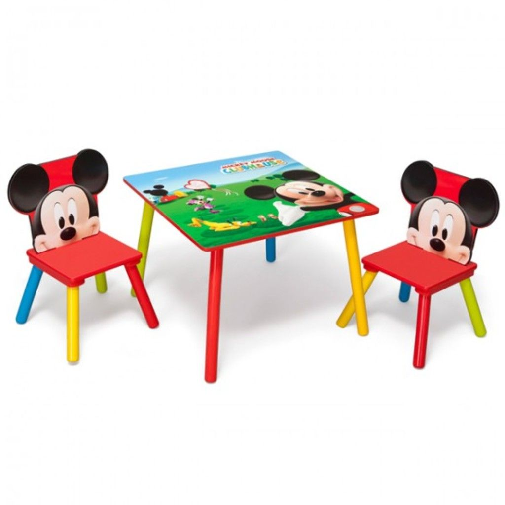 Mickey Mouse Table And Chairs Australia For Dining Room Tables Disney Tisch Mit Stuhlen 60x60cm Holz Kindersitzgruppe Kindersitzgarnitur