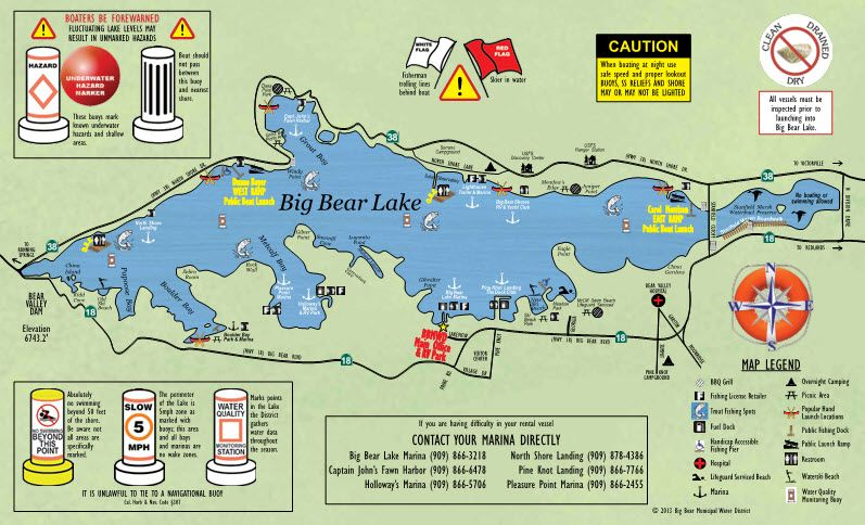 big bear lake fishing map Big Bear Lake Ca Map Big Bear Lake Lake Map Big Bear big bear lake fishing map