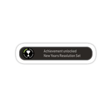 Achievement Unlocked New Years Resolution Set Sticker By Colddistrict New Years Resolution Unlock Achievement