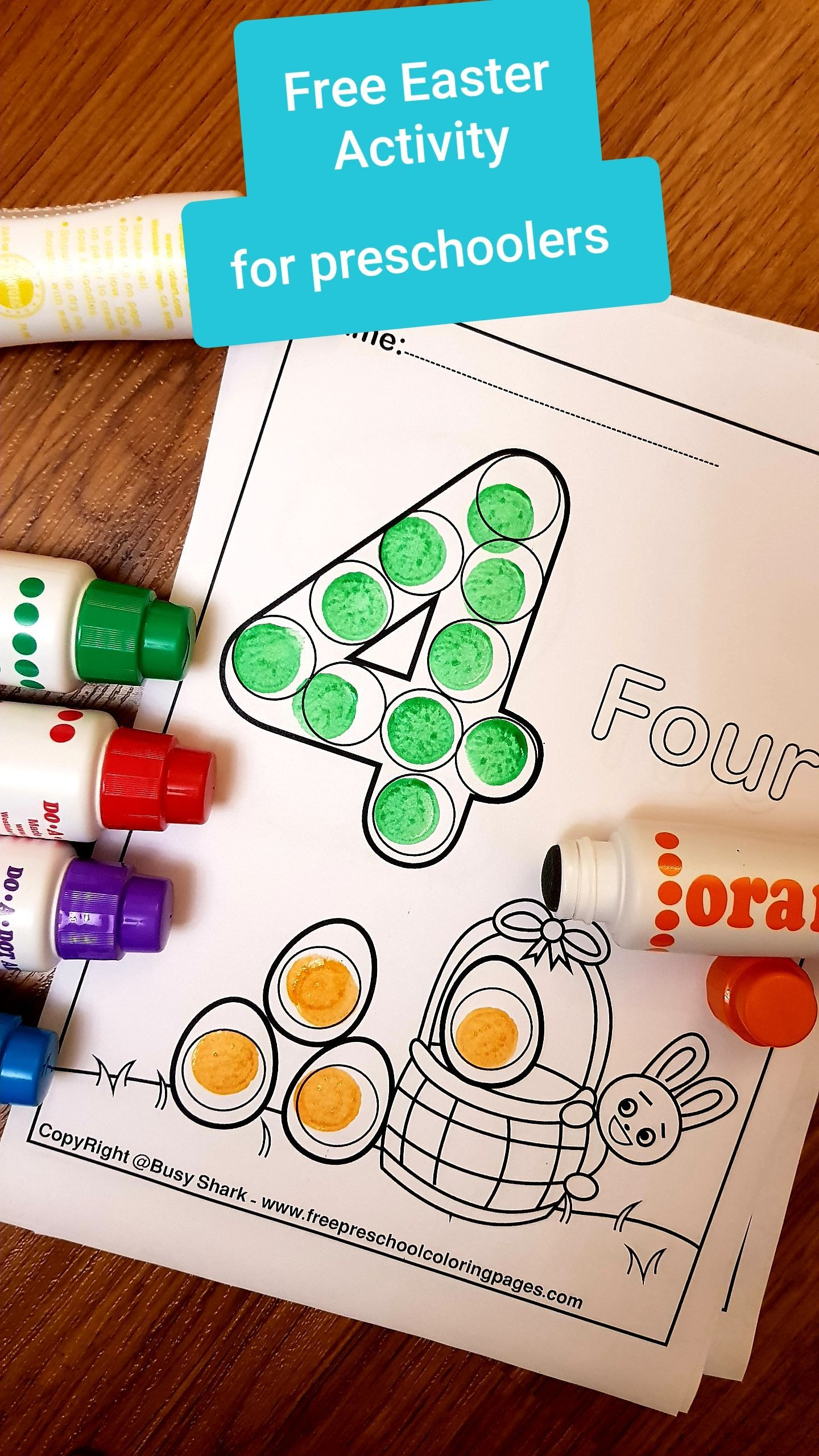 Easter 123 Numbers Dot Markers Printables Free Preschool