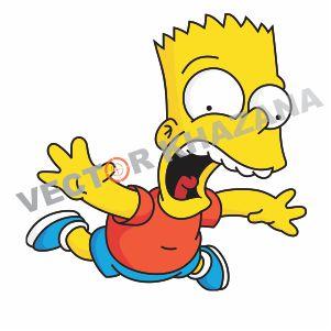 Funny Bart Simpson Logo Vector Vector Logo Bart Simpson Bart