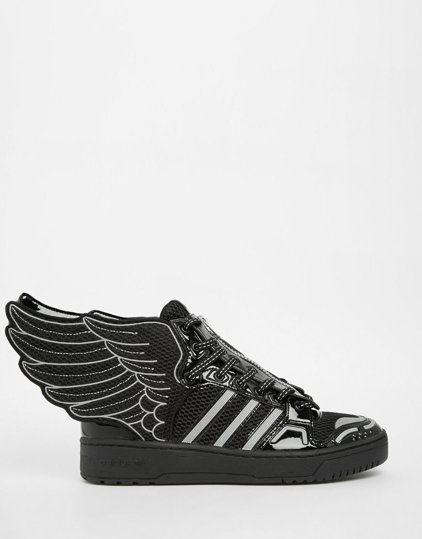 f7766cfa87158 Image 1 of adidas Originals by Jeremy Scott Black 2.0 Mesh Wing High Top  Sneakers