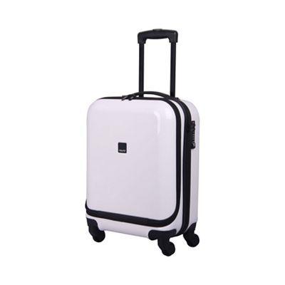 Tripp White gloss 'Chic' 4 wheel dual access cabin suitcase ...