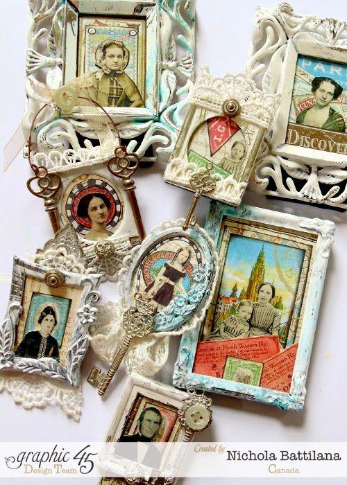 Altered Art Frames with tutorial - Nichola Battilana