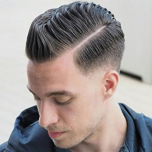 Hard Side Part With Low Fade Fade Haircut Mens Haircuts Fade Side Part Haircut