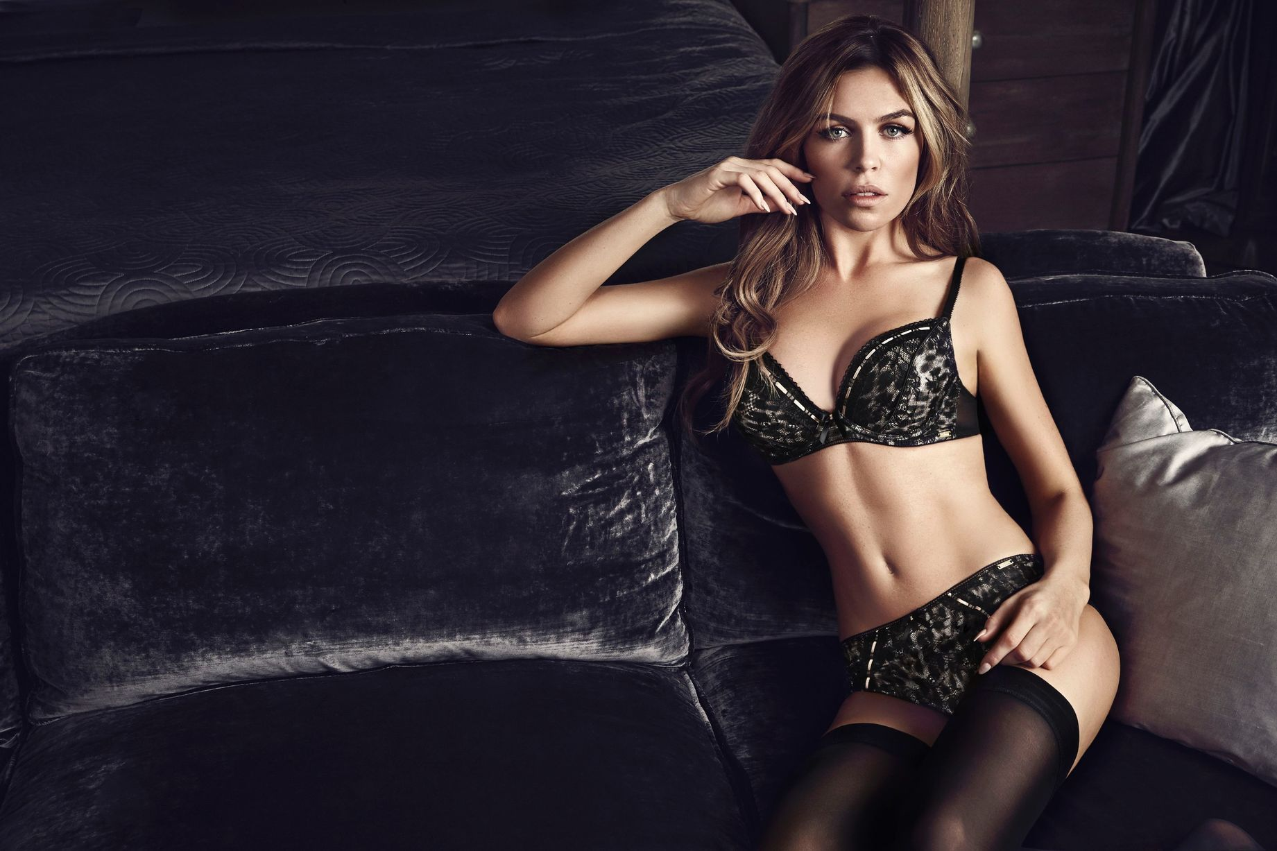 10e5b460ef In pictures  Abbey Clancy looks stunning in new Ultimo lingerie shoot -  Daily Record
