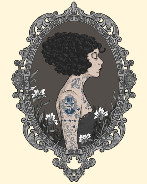 Tee Design: La Femme Tatoué