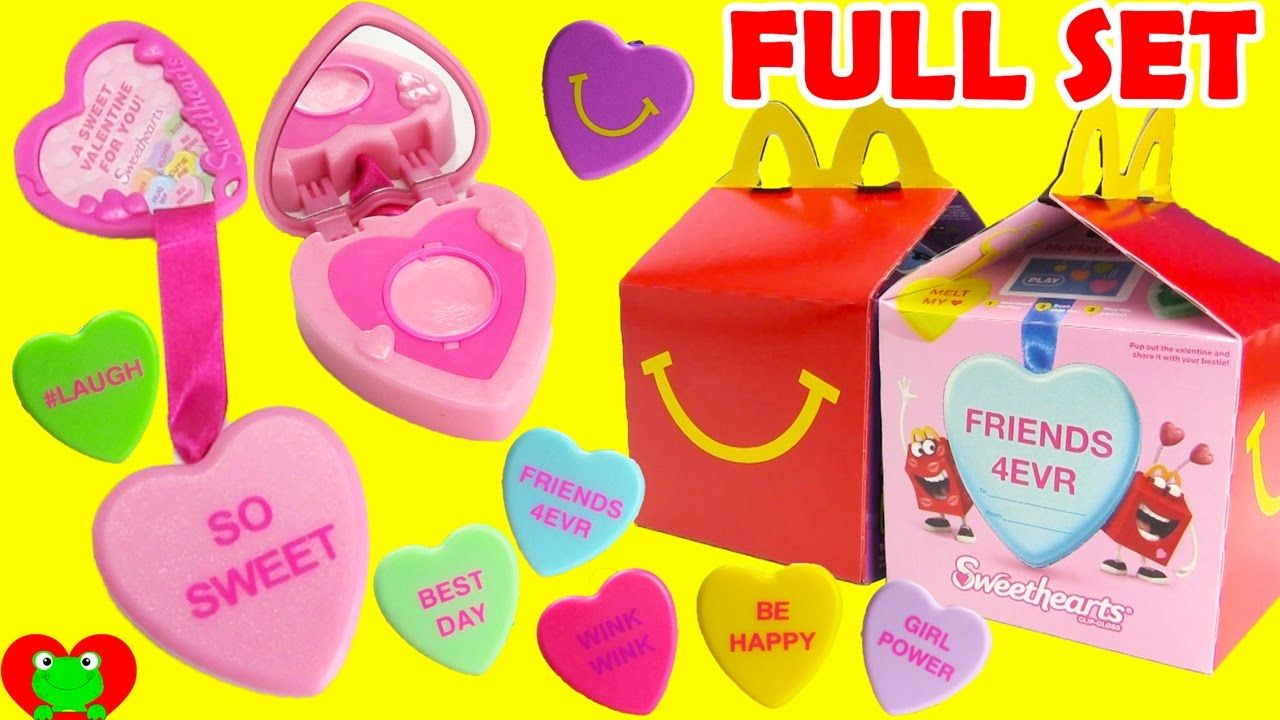 2017 Sweethearts Clip Gloss Lip Balms Mcdonald S Happy Meal Toys Full Set Happy Meal Mcdonalds Happy Meal Happy Meal Toys