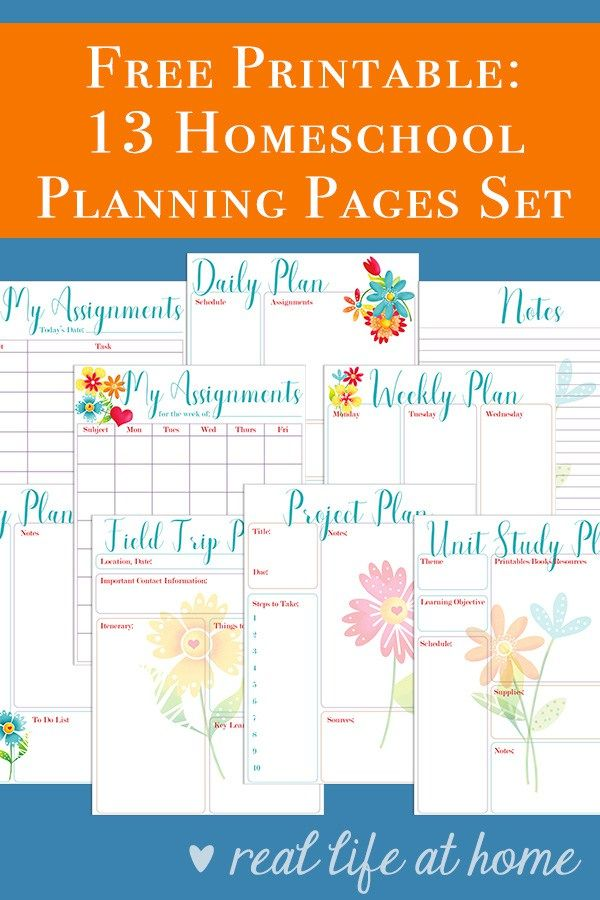 Free Homeschool Planning Printables Perfect for Your