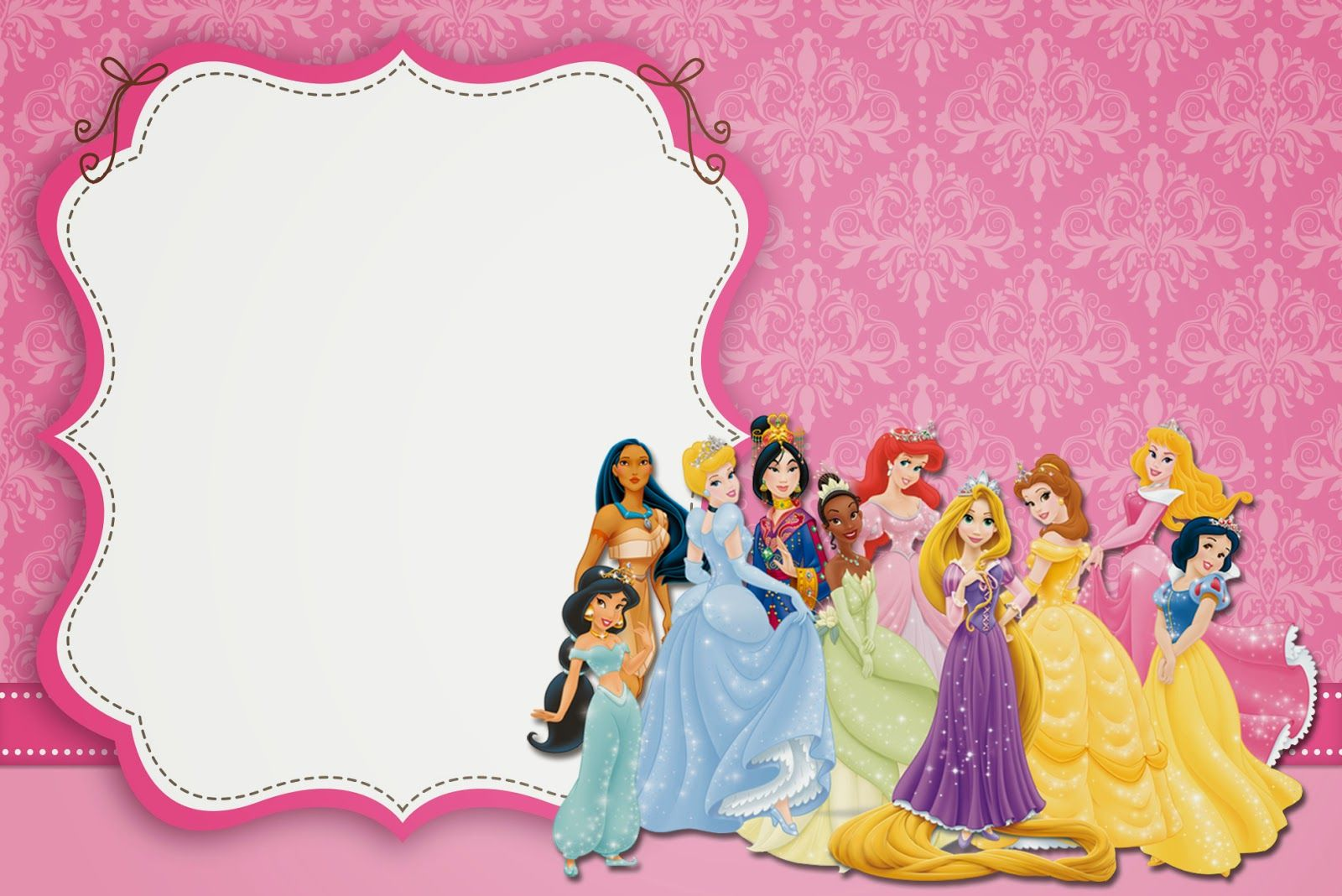 Blank Disney Princess Invite