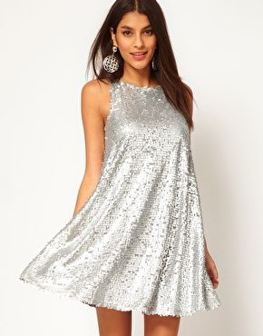 It's fabulous and it's sparkly but is it F enough?   ASOS Swing Dress in Teardrop Sequin