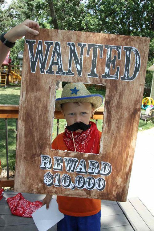 photo props boards cowboy party | cowboy themed terrible twos western second birthday party for two boys ...