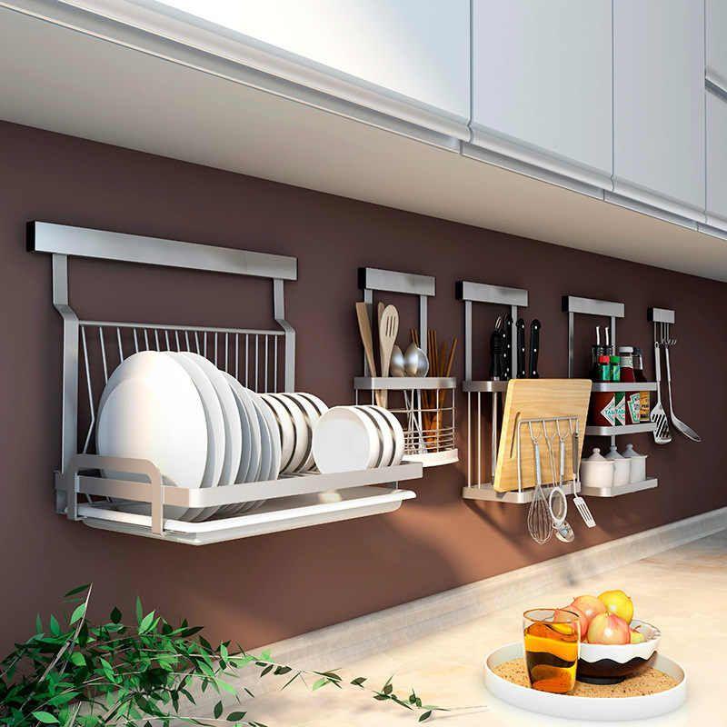 304 stainless steel kitchen rack multifunction wall