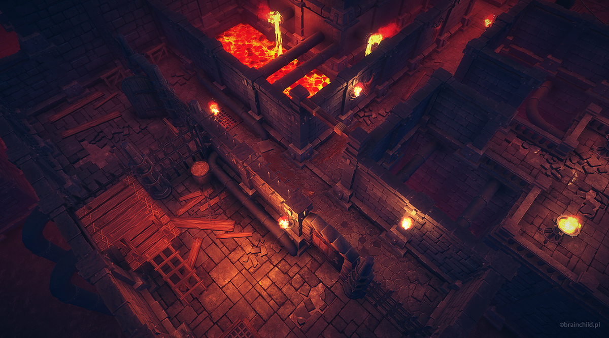 Modular Top-down Dungeons Pack - Low Poly on Behance