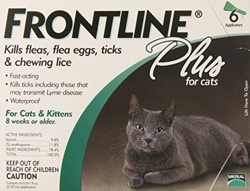 Pet Supplies Merial Frontline Plus Flea And Tick Control For Cats And Kittens 6 Doses Cat Fleas Cats And Kittens Frontline Plus For Cats