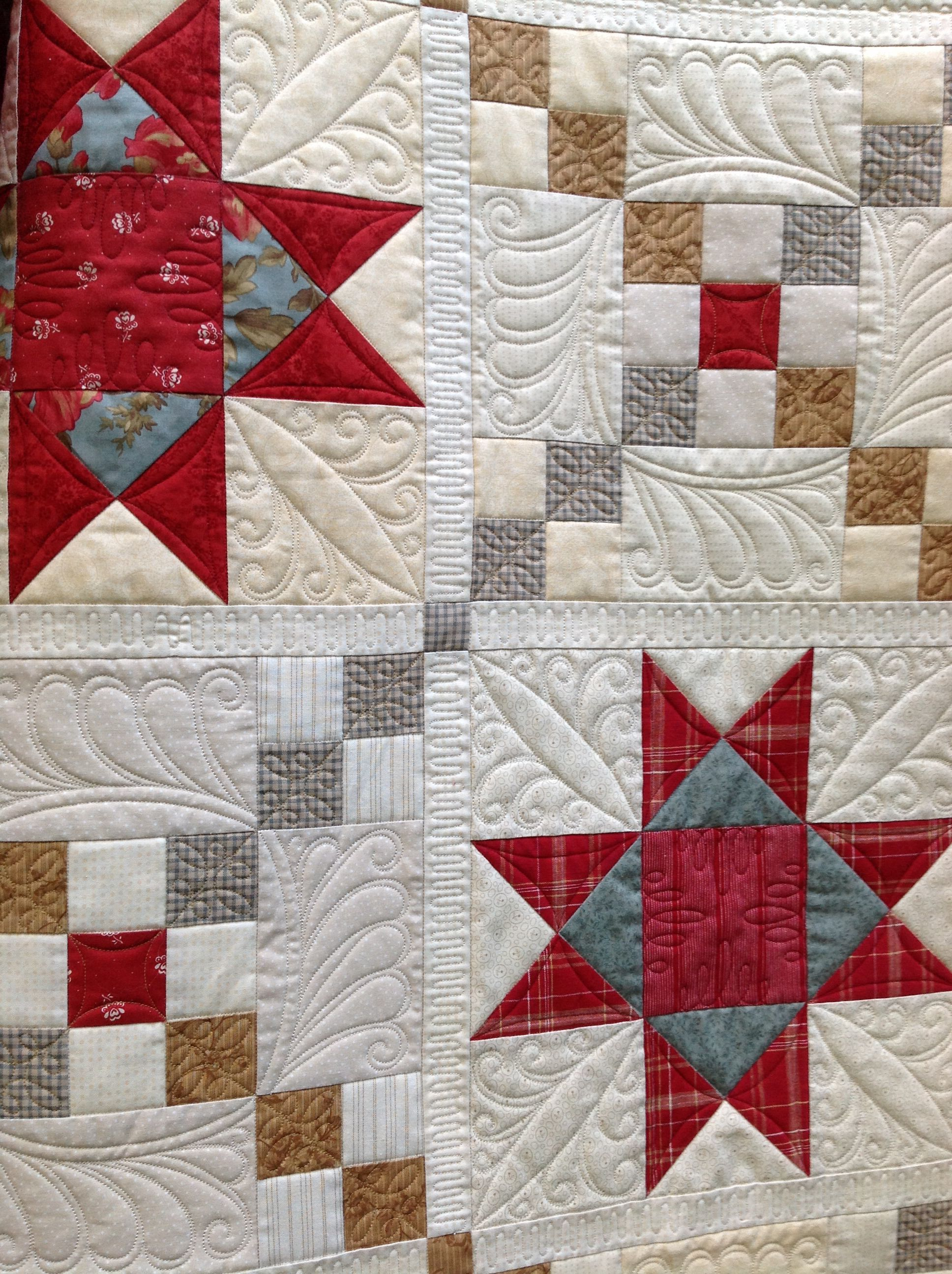 Quilted By Renee Sauve Of Log Cabin Quilter Quilting