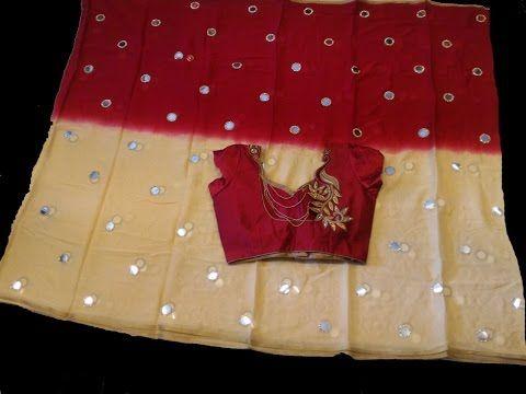 3351fc2f0 Latest jute net silk sarees with price - YouTube
