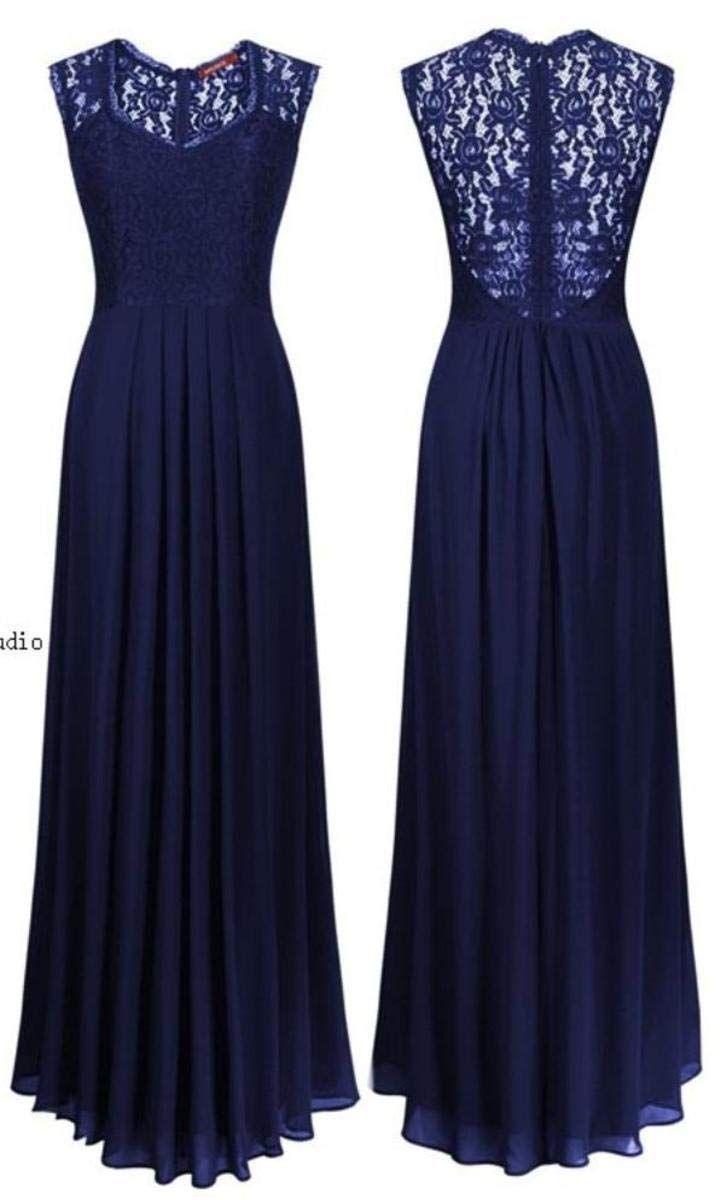 7bc3bb95090 IJ Women s Casual Deep- V Neck Sleeveless Party Wedding Maxi Dress ...