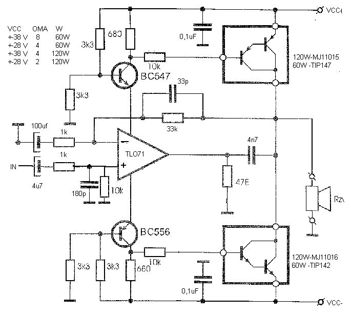 motorola hi fi power amplifier circuit